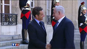 Nicolas Sarkozy et Benjamin Netanyahu, le 24 juin 2009
