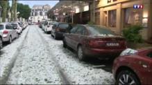 Orages : une brutale averse de grêle s'abat à Vichy
