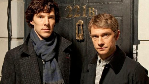 Série créée par Mark Gatiss et Steven Moffat en 2009. Avec Benedict Cumberbatch, Martin Freeman et Rupert Graves.