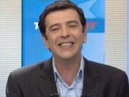 Thierry Gilardi sur le plateau de Telefoot.