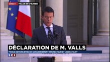 """Valls : """"Nous voulons être un gouvernement libérateur"""""""