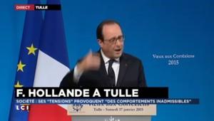 """Voeux de Hollande aux Corréziens : """"La France n'est pas n'importe quel pays du monde"""""""
