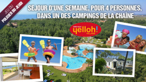 Jouez et gagnez un sjour en famille avec Yelloh! Village