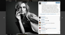 Capture d'écran du compte Instagram du mannequin Andreja Pejic