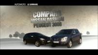 Comparo : Peugeot 3008 / Nissan Qashqai