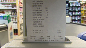 prix coût supermarché tichet de caisse inflation
