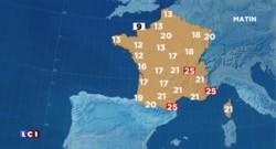 La météo du 6 juillet 2015 : 16 départements maintenus en alerte canicule