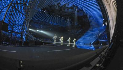 La scène de l'Eurovision de la chanson à Vienne en 2015