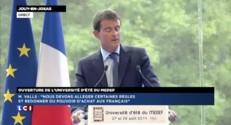 """Valls : """"la France souffre d'un déficit d'image à l'étranger"""""""
