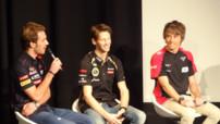 Vergne Pic Grosjean 2012 F1 Conférence