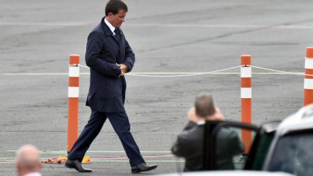 Arrivée de Manuel Valls à La Rochelle pour l'université d'été du PS 28-08-14
