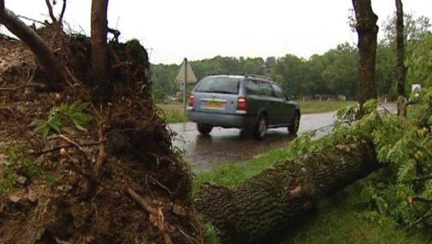 Dégats provoqués par les orages le 17 août
