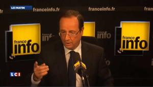 """Hollande: Bayrou a compris que Sarkozy était """"dans une fuite en avant"""""""