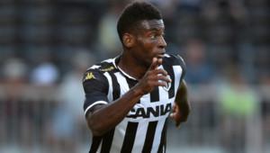 Jean-Pierre Nsamé, joueur au club d'Angers