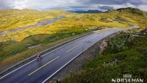 l'épreuve de cyclisme dans les hauteurs de Norvège
