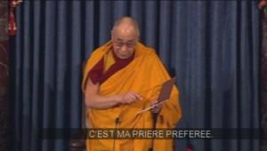 Le dalaï-lama récite sa prière préféré en ouverture de séance au Sénat américai, le 6 mars.