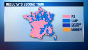 La carte de France du vote des législatives 2012