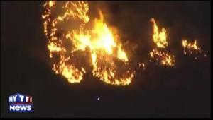 Incendie en Californie : le combat continue de nuit