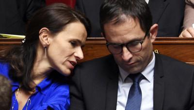 Benoît Hamon et Aurélie Filippetti le 15.10.14 à l'Assemblée