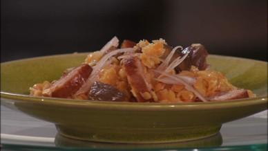 Salade de lentilles et saucisse fum e chaude petits plats en equilibre mytf1 - Toutes les recettes de petit plat en equilibre ...