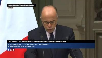 Bernard Cazeneuve réaffirme la détermination de la France à lutter contre le Daesh