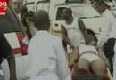 L'une des victimes du mitraillaige en Angola. Le 8 janvier 2010.