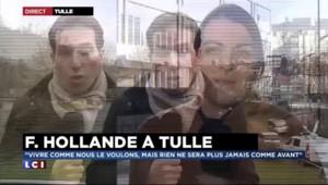 """En direct de Tulle : """"La vie continue"""", a rappelé François Hollande"""