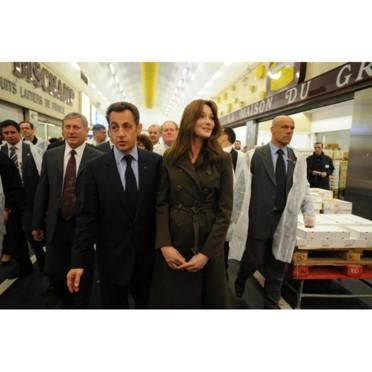people : Nicolas Sarkozy et Carla Bruni à Rungis 2