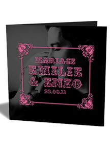 Faire-part de Mariage Photographique - milie &amp; Enzo