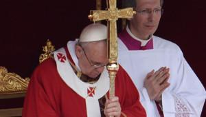 Le pape François célèbre la messe des Rameaux, 24/3/13