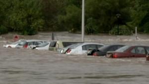 Les inondations dans le nord-est dans Etats-Unis, le 8 septembre 2011.