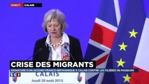 """Migrants : la ministre de l'Intérieur britannique veut """"détruire les groupes de trafiquants"""""""