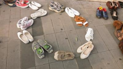 Des chaussures place de la République