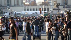 foule trocadéro gens