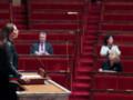 La député UMP Valérie Boyer défendant le 22 décembre 2011 le texte sur les génocides dans une Assemblée très clairsemée.
