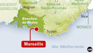 Marseille dans les Bouches-du-Rhône