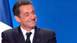 Nicolas Sarkozy face à la presse le 8 janvier 2008