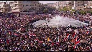 Un rassemblement à Damas, le 13 novembre 2011.