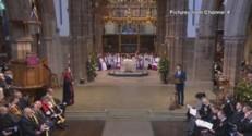 Benedict Cumberbatch à l'inhumation de Richard III, le 26 mars.