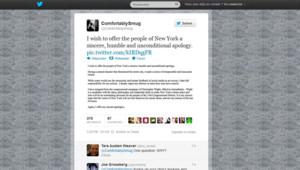 Le compte Twitter de l'homme qui twittait de fausses infos sur Sandy.