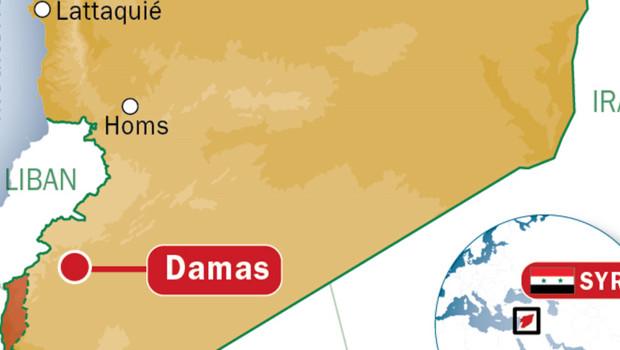 Carte de la Syrie