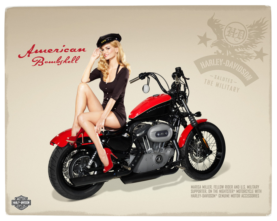 Harley Davidson: Photos Automoto : Marisa Miller Pose Pour Harley-Davidson