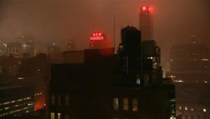La ville de New York frappée par les vents de la tempête Irene (28 août 2011)