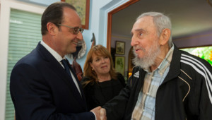 François Hollande et Fidel Castro à Cuba le 11 mai 2015