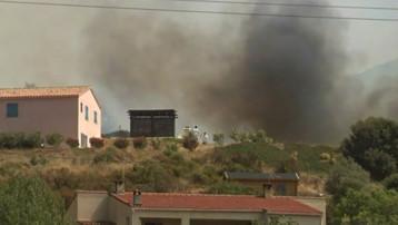 Maisons longées par les flammes en Corse-du-Sud (23 juillet 2009)
