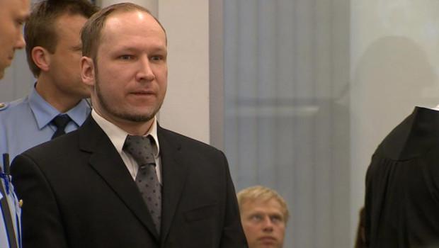 6e journée d'audience pour Anders Behring Breivik, jugé en Norvège pour la tuerie d'Utoeya. Le 23 avril 2012.