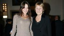 Carla Bruni et sa mère Marisa, le 12 octobre 2007, à Turin