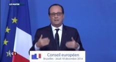 """Croissance : les prévisions de l'Insee """"en ligne"""" avec le gouvernement, se félicite Hollande"""