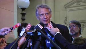 Dominique de Villepin, devant la cour d'appel de Paris, le 14 septembre 2011