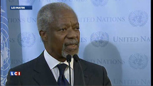 """Kofi Annan à Damas : """"les massacres et les violences doivent cesser"""""""
